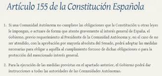 Asunción de funciones y competencias en aplicación del artículo 155 de la CE en Cataluña
