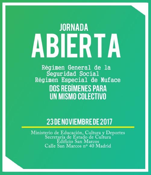 Jornada abierta: Régimen General de la Seguridad Social vs. Régimen Especial de Muface