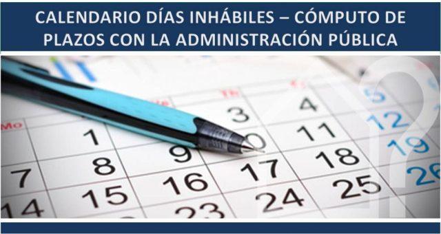Calendario de días inhábiles en la Administración General del Estado para el año 2018, a efectos de cómputos de plazos