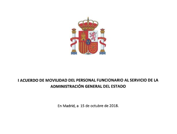 I Acuerdo de movilidad del personal funcionario al servicio de la Administración General del Estado